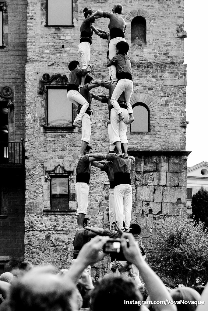 Human Towers in Barcelona