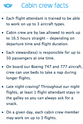 KLM cabin crew facts