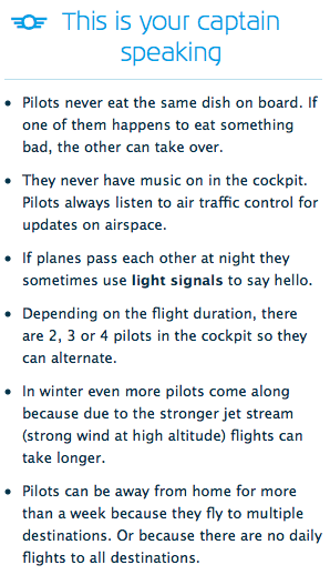 KLM facts about pilots