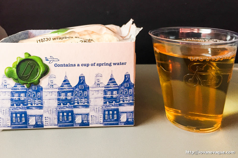 KLM food on board