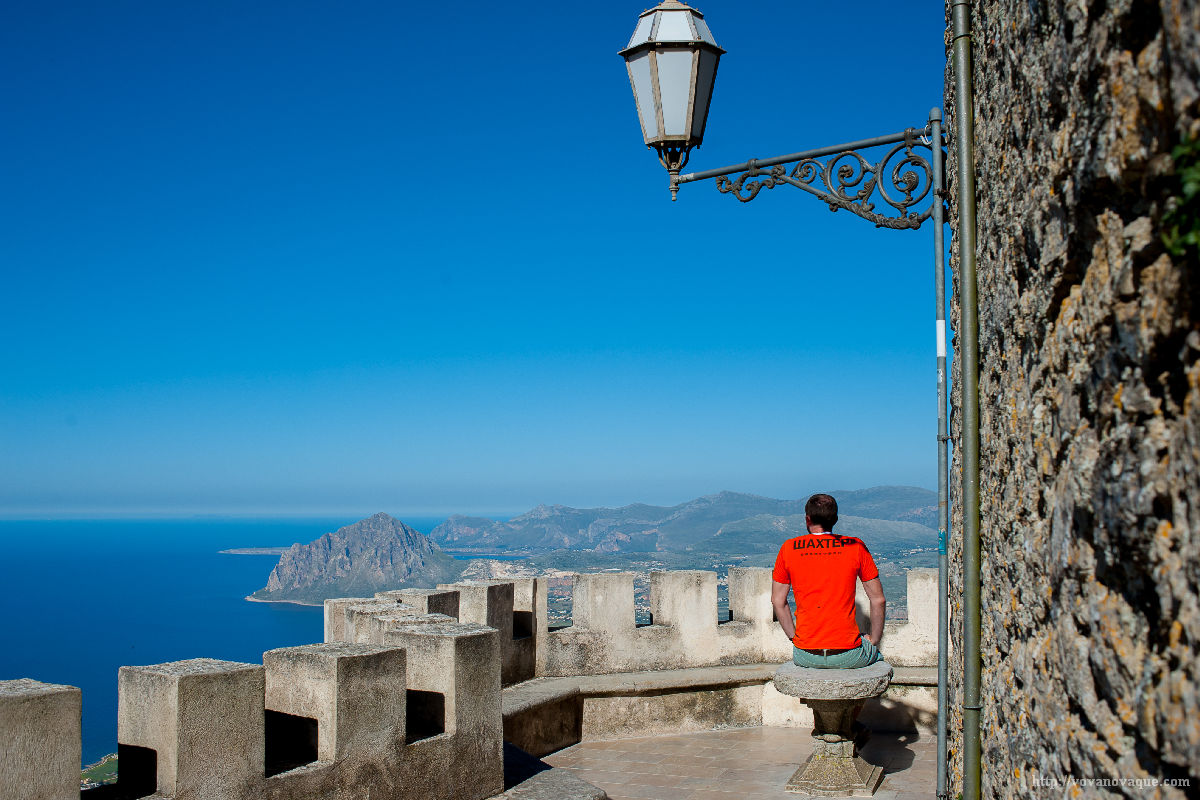 Views from Erice mountain in Trapani