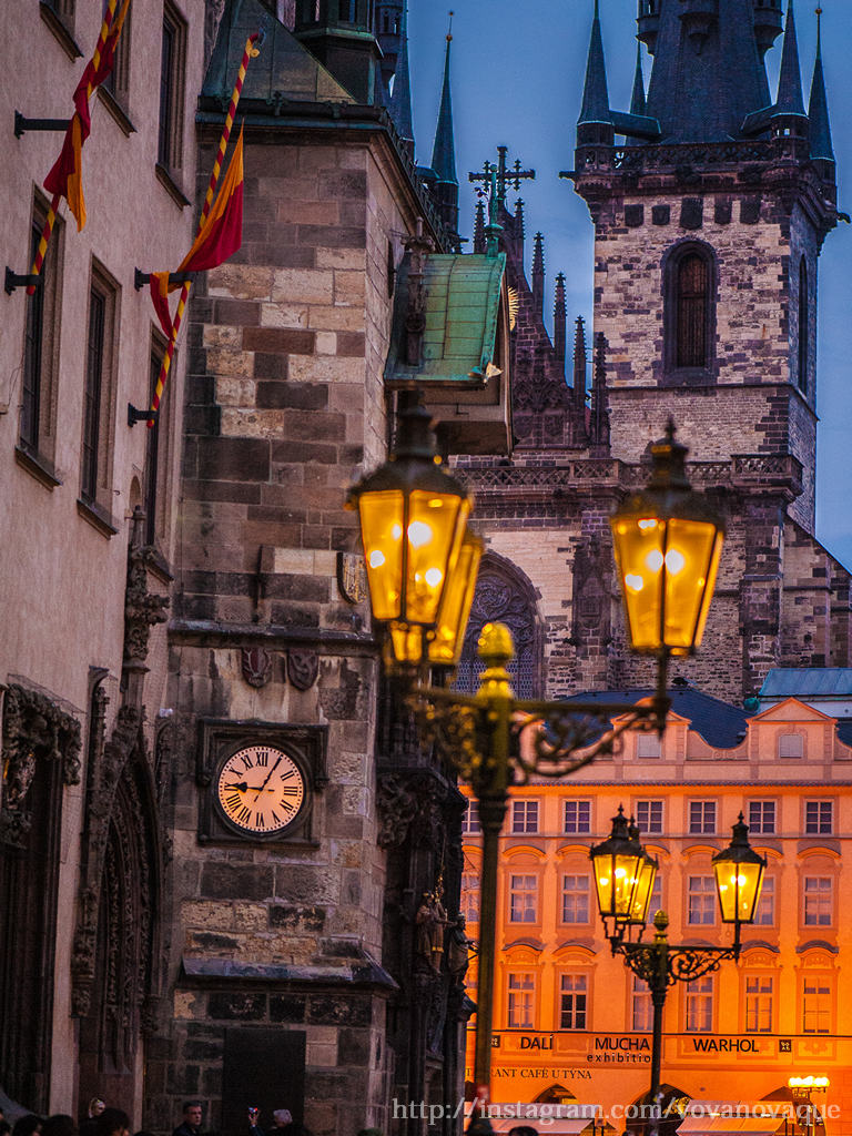 Prague street lights