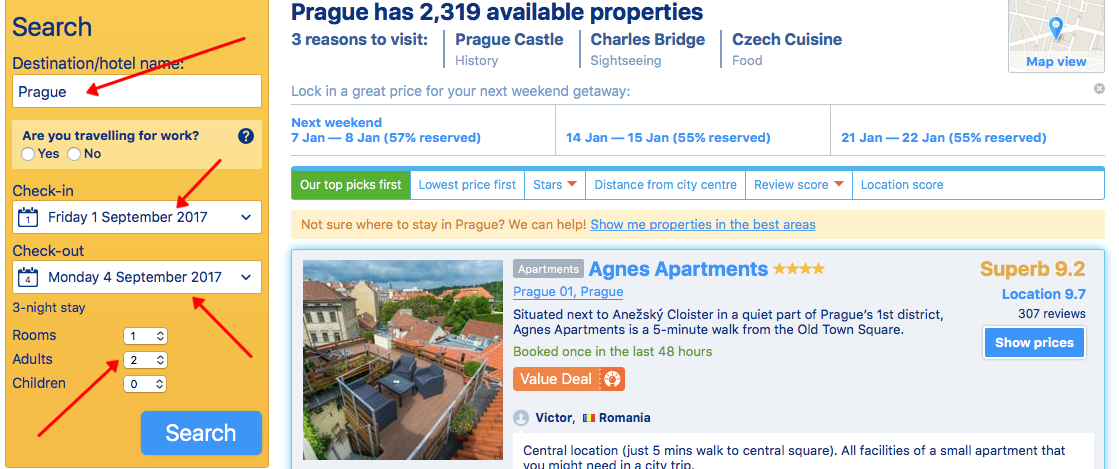 How to book hotel in Prague