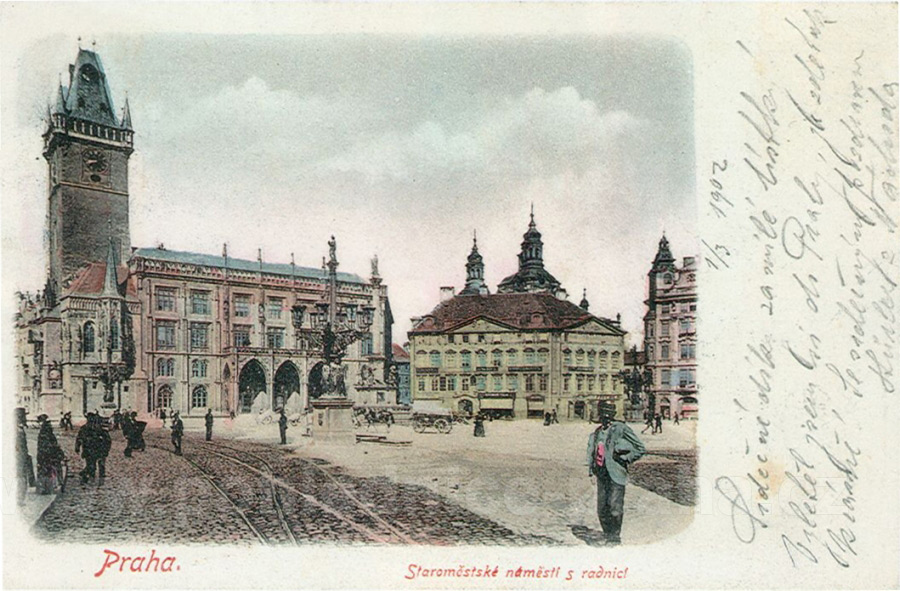 Old Town Square in Prague in XIX century