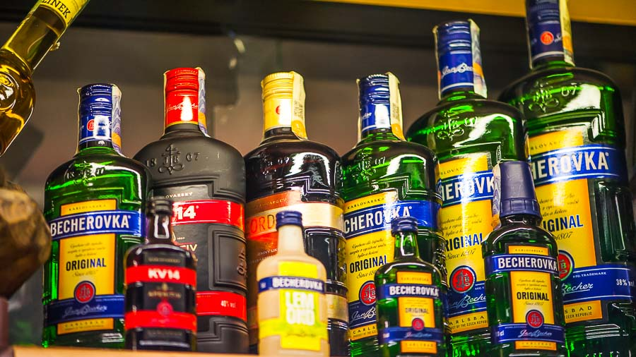 Becherovka for souvenirs in Prague