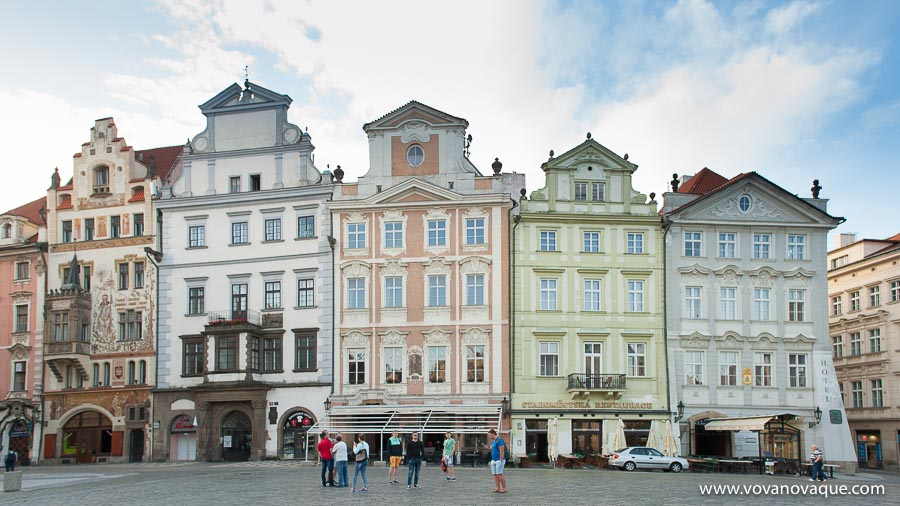 Houses in the Old town Square