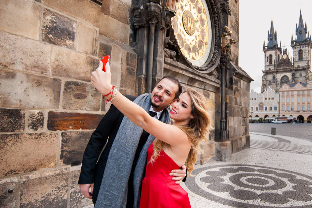 Photo shooting in Old Town Square Prague