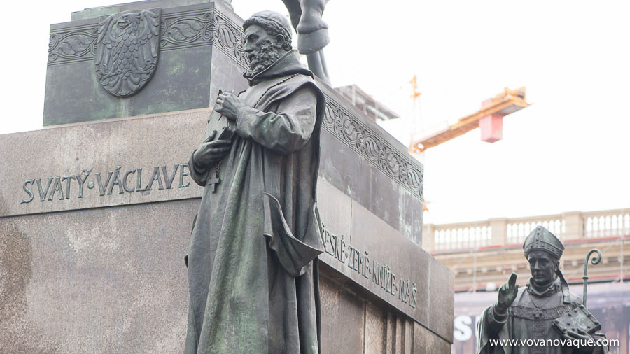Statue of St Wenceslas — the main monument in Prague