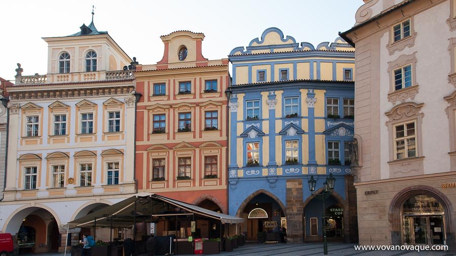 Old Town Square in Prague is the heart of the city