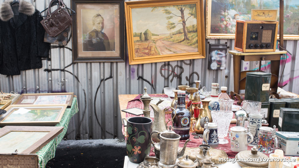 Berlin Wall and Flee Market
