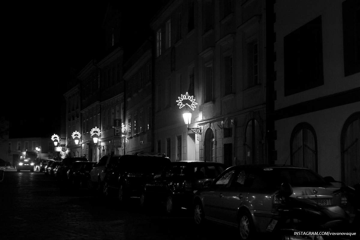 Black and white Prague