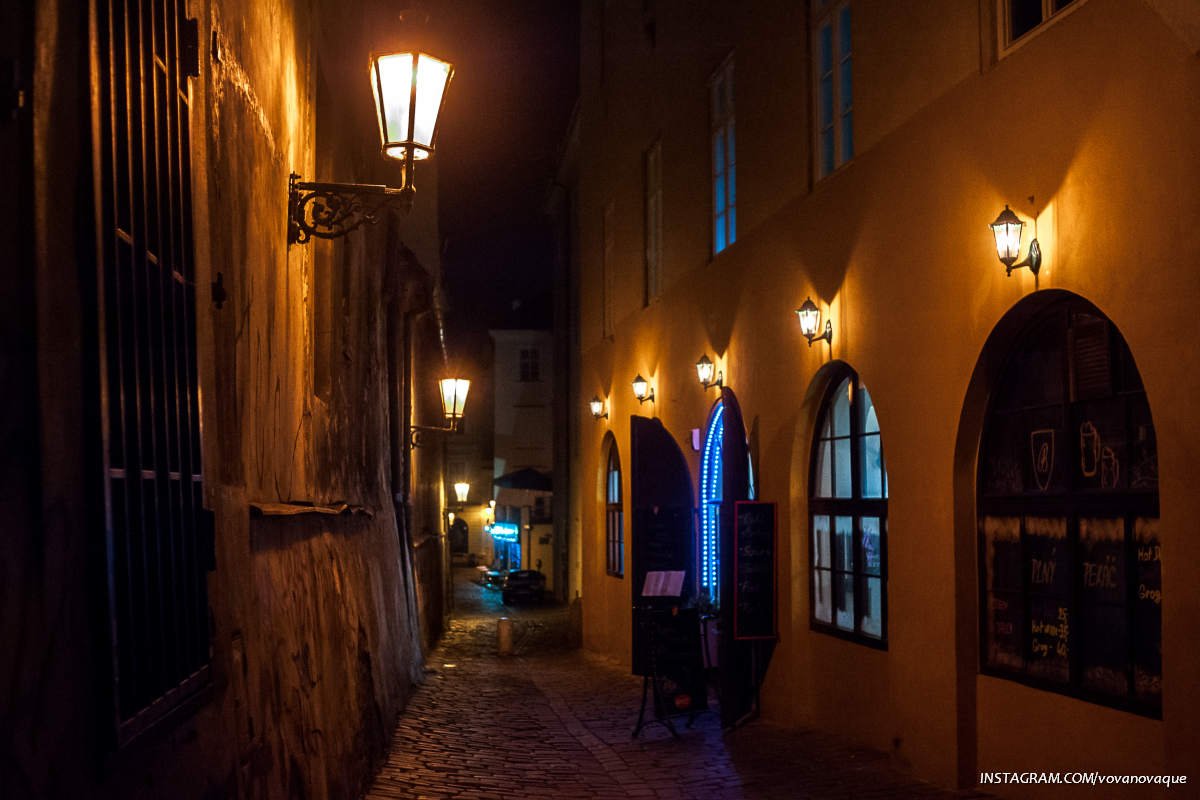Night streets of Prague