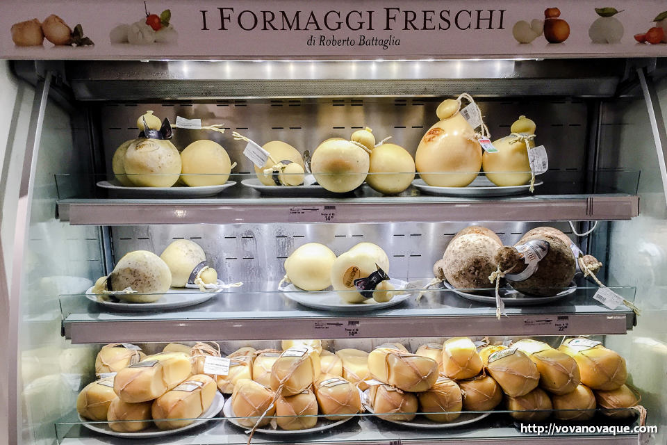 Cheese in Eataly