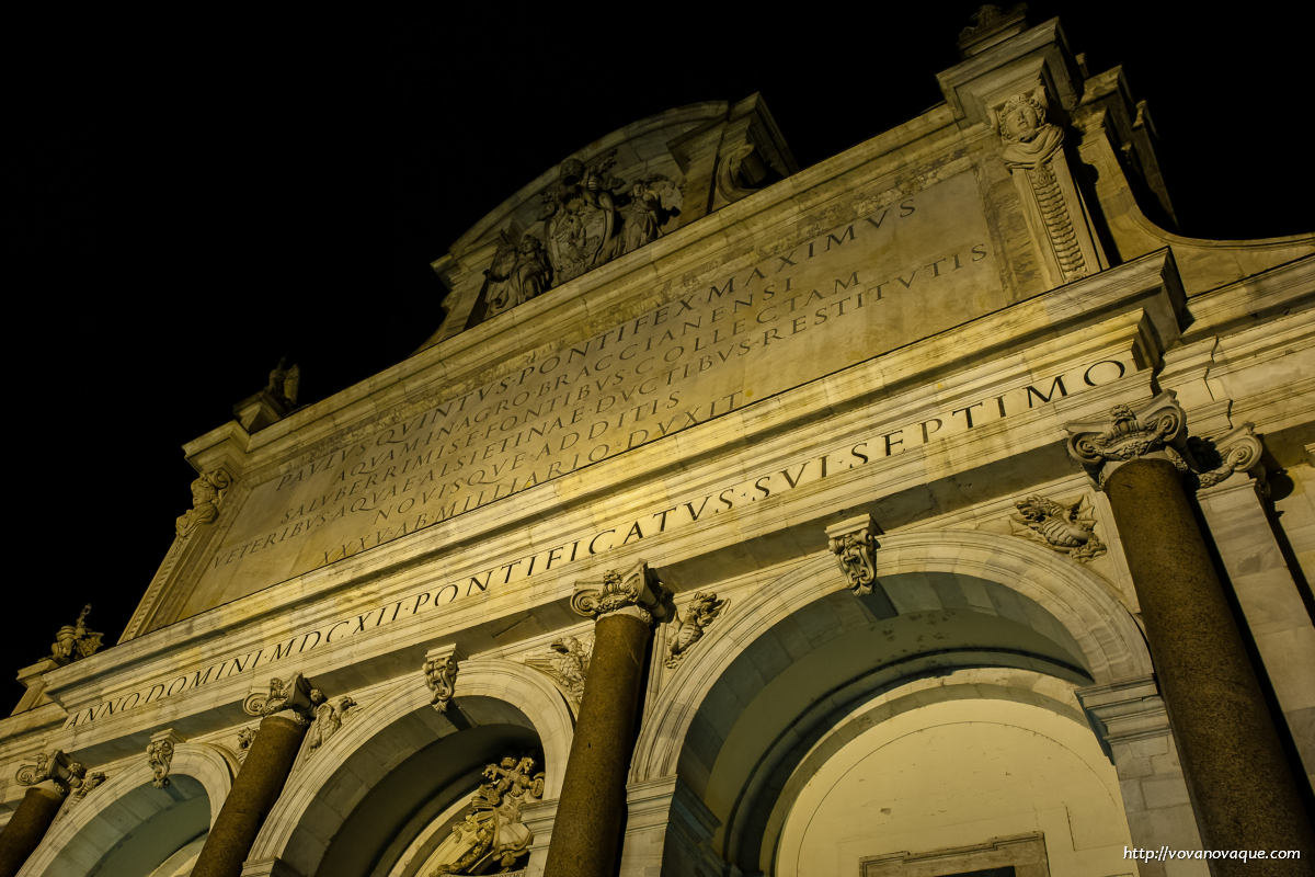 Night Rome photography