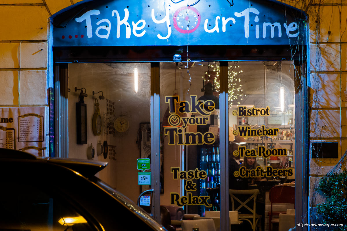 Take Your Time bistro in Rome