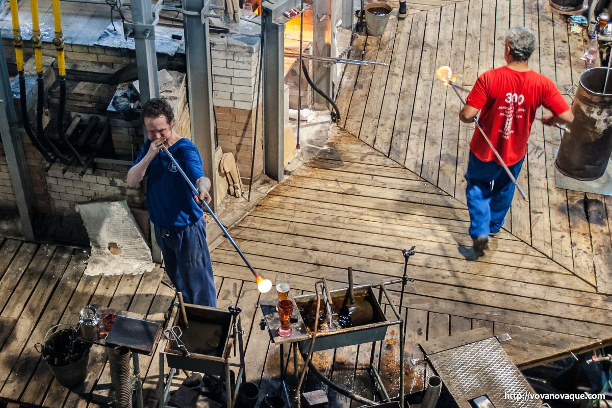 Glass makers at work