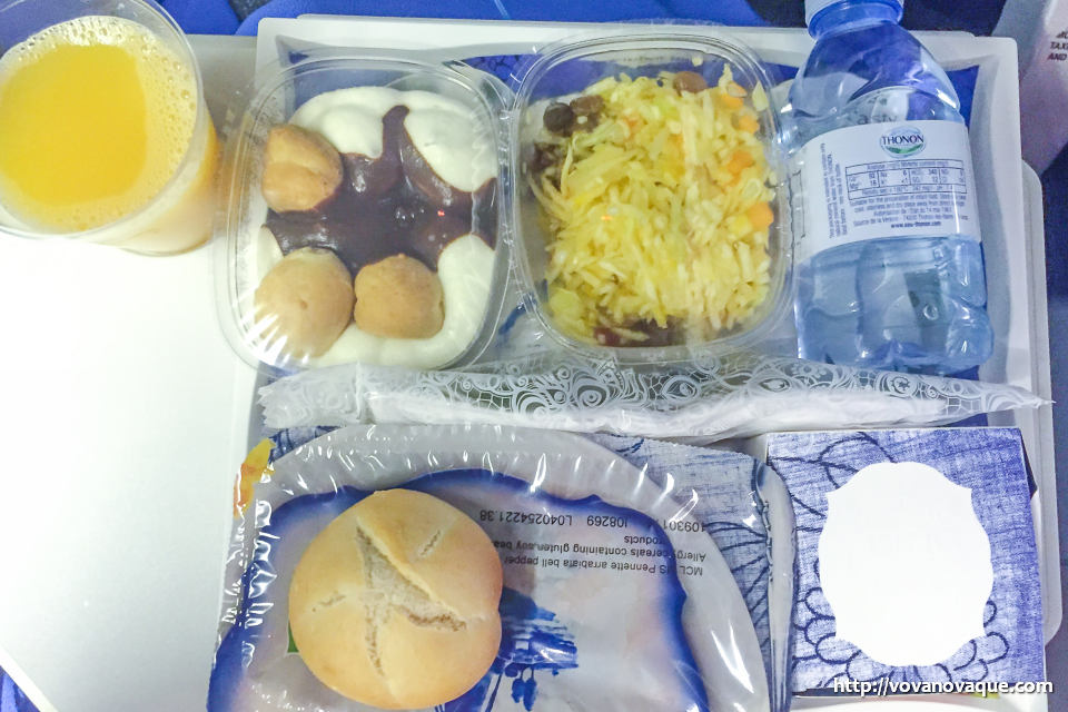 Food on KLM board to Singapore