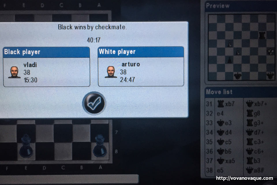 Playing chess on the flight to Singapore