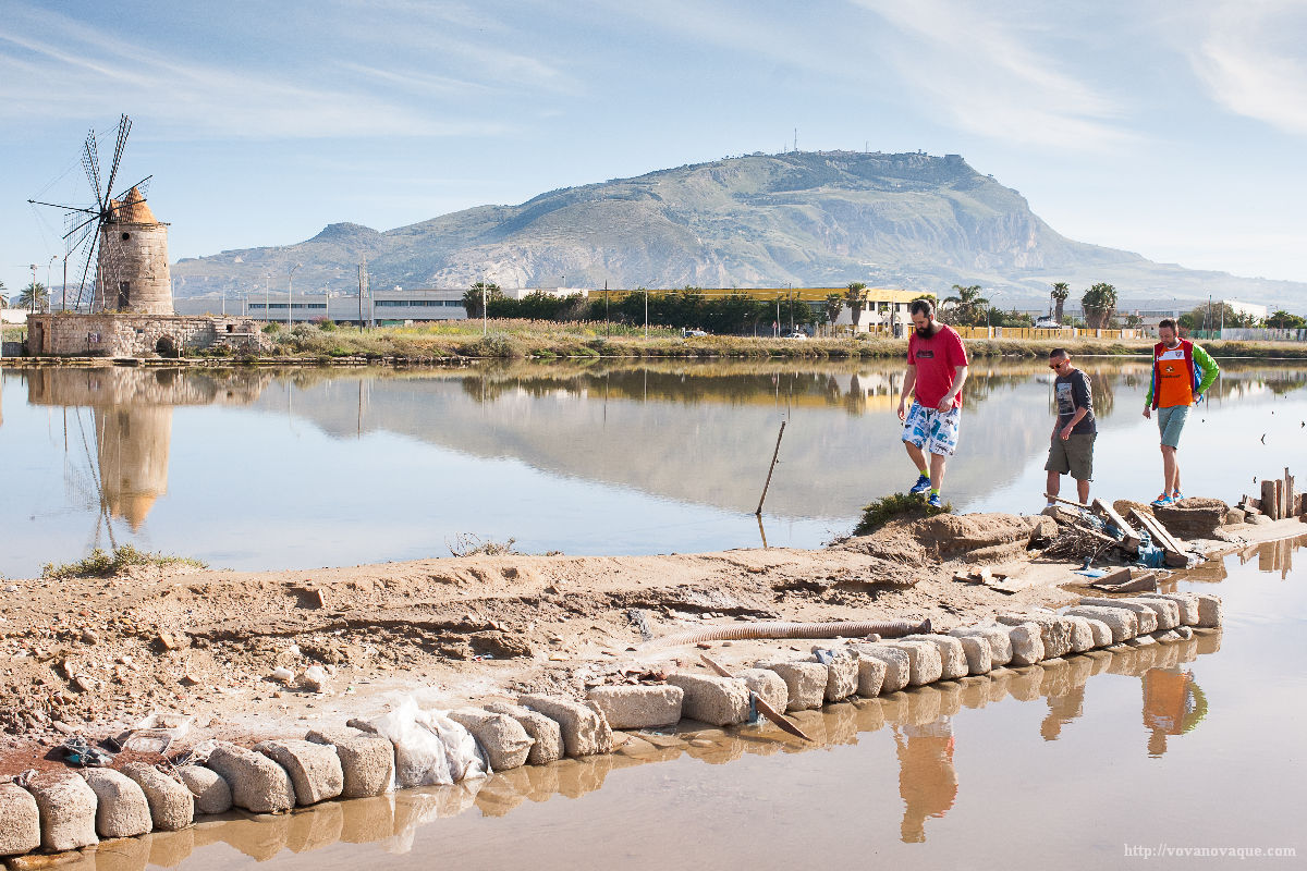 Sea salt farm in Trapani