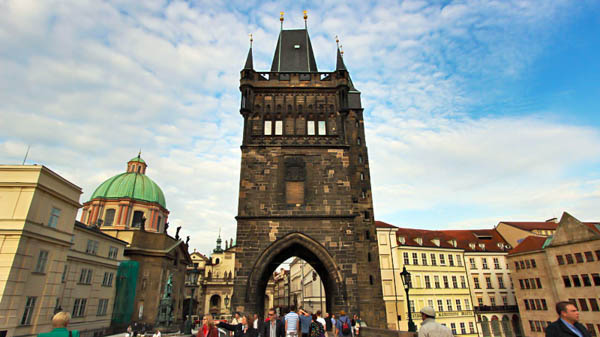 Watchtowers on Charles Bridge in Prague