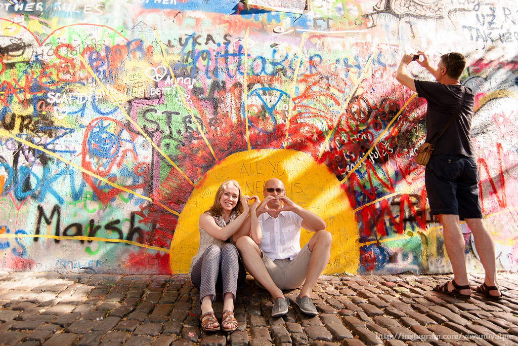 Lennon Wall Prague Photo