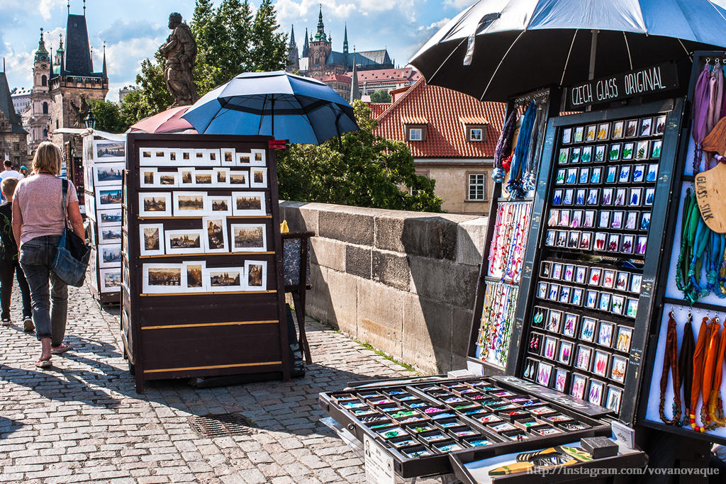 Souvenirs on Charles Bridge
