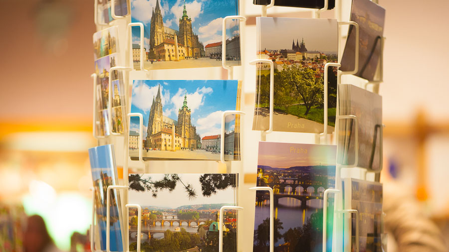 Post cards in Prague where to buy