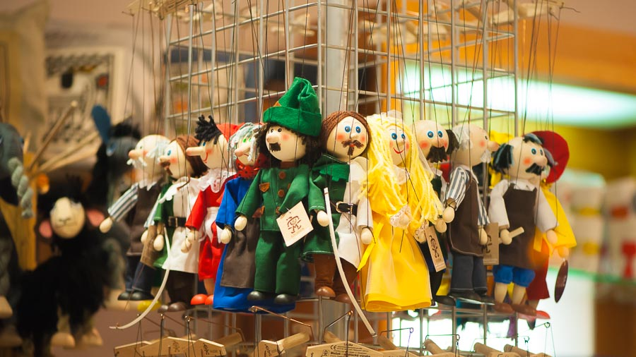 Puppets Marionettes in Prague