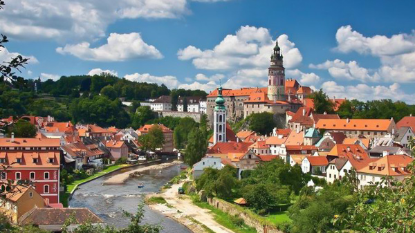 Cesky Krumlov and Hluboka Chateau day tour with guide