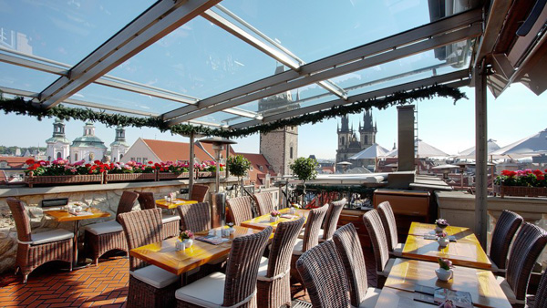 best rooftop bars and restaurants in Prague Terrace at Prince