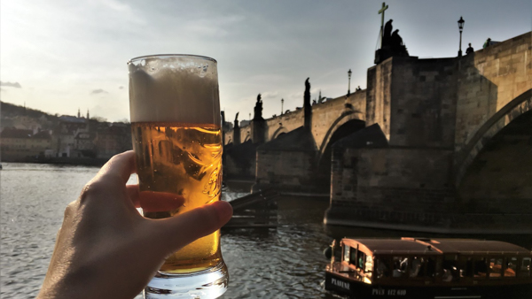 Where to drink beer in Prague drinking outside