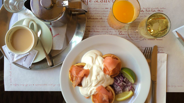 where to have brunch in Prague Café Louvre