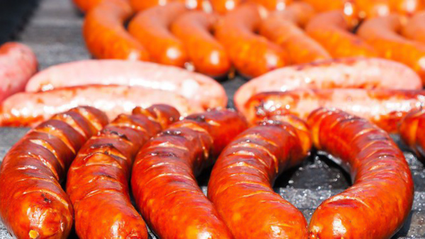 best street food in Prague sausages