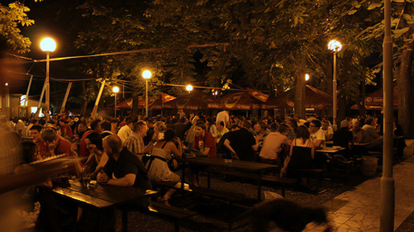 beer gardens in Prague Riegrovy sady