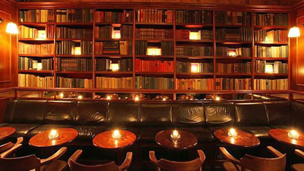 best speakeasy bars in Prague Týnská Bar and Books