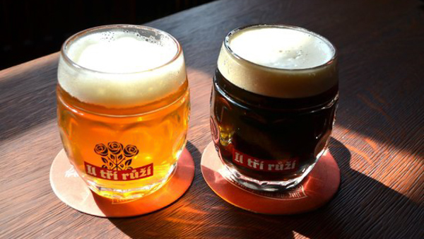 Best craft beer in Prague U Tri Ruzi