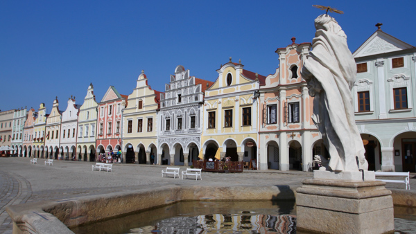 Telc Zacharias from Hradec Square