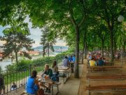 beer gardens in Prague