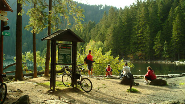 Sumava national park active rest
