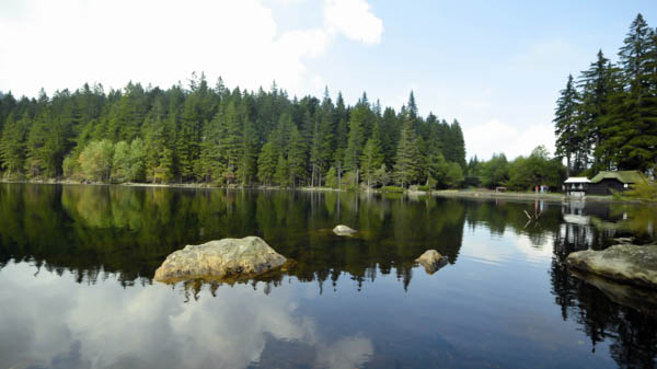 Sumava national park glacial lakes